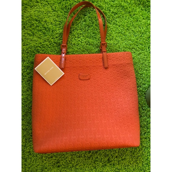 3392492541db Michael Kors Bags   Tangerine Tote Handbag Travel Bag   Poshmark